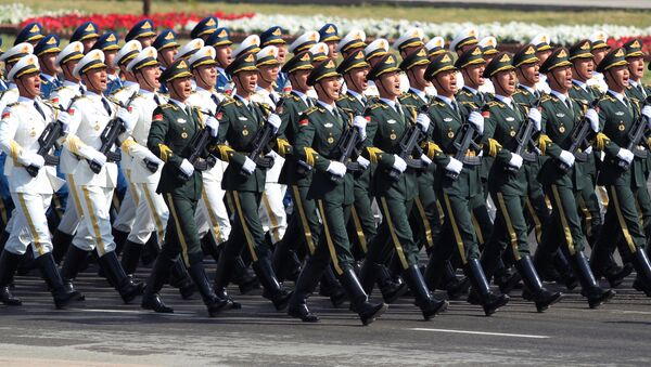 Chinese troops march as they take part in Pakistan Day military parade in Islamabad, Pakistan, March 23, 2017 - Sputnik International
