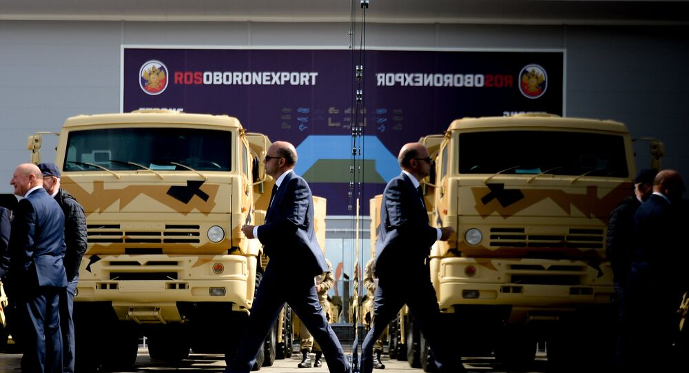 The stand of JSC Rosoboronexport during the international military-technical forum ARMY-2016