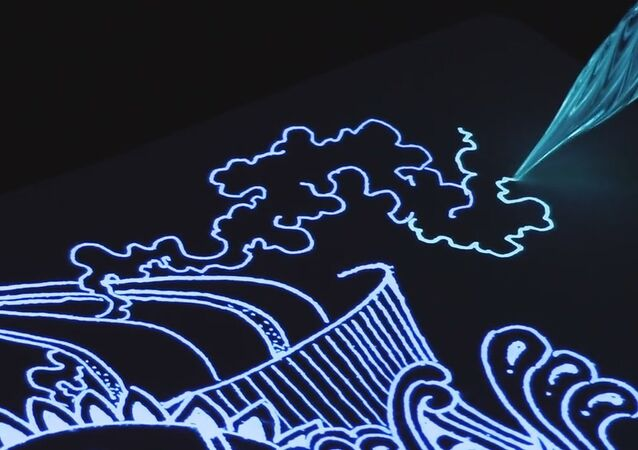 Glow Ink + Glass Pen Drawing!