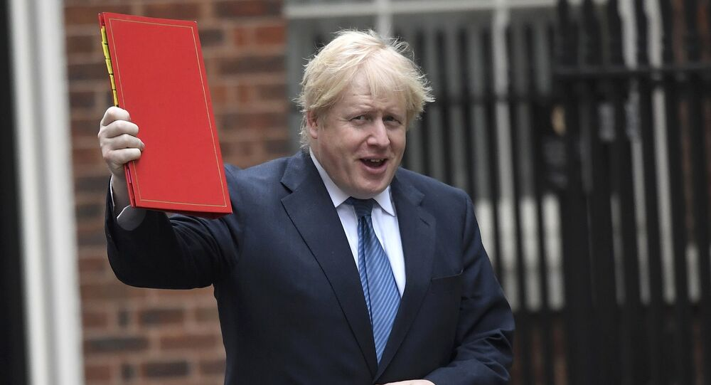 Britain's Foreign Secretary Boris Johnson arrives in Downing Street, London, March 14, 2017