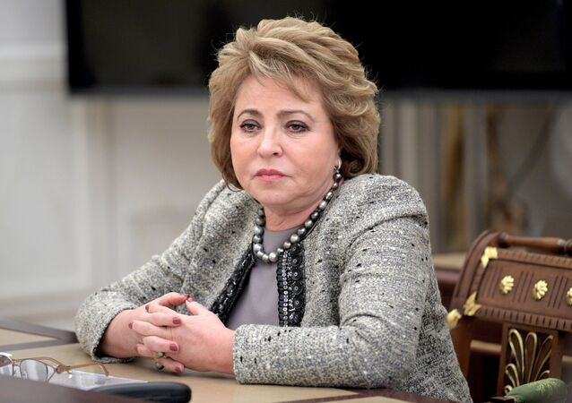 Chairperson of the Federation Council Valentina Matvienko