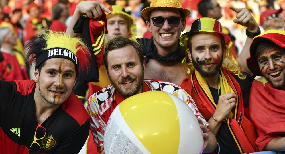 Fans of the Belgian football team (File)