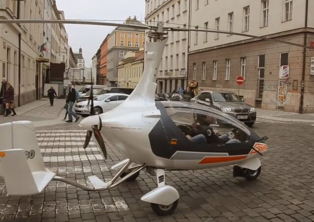 Czech Builds a Flying Car to Fly to Prague for a Cup of Coffee