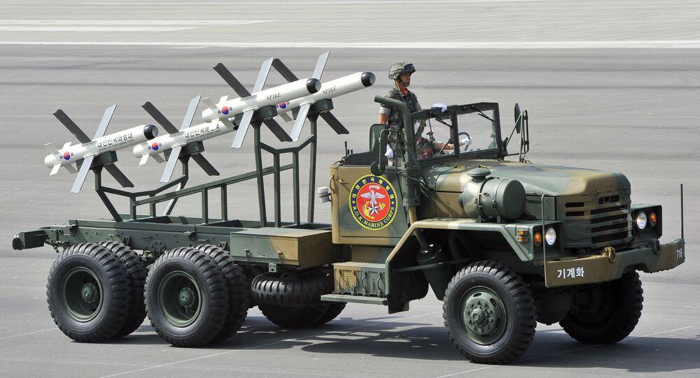 Israeli-made Spike missiles (file)