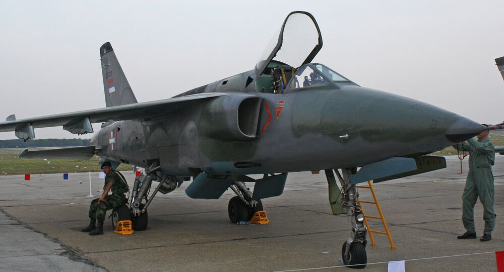 A Serbian Air Force J-22 Orao of the 241st Fighter-Bomber Aviation Squadron. (File)
