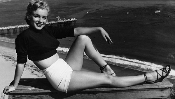 Marilyn Monroe has held a variety of jobs, from making five cents a week in an Orphan home to a stock contract at a studio. She clicked as the sexy girl in Asphalt Jungle, and the roles got better. She has been named to Miss Cheesecake of 1951 by stars and stripes, a service paper. (04/17/1951) - Sputnik International