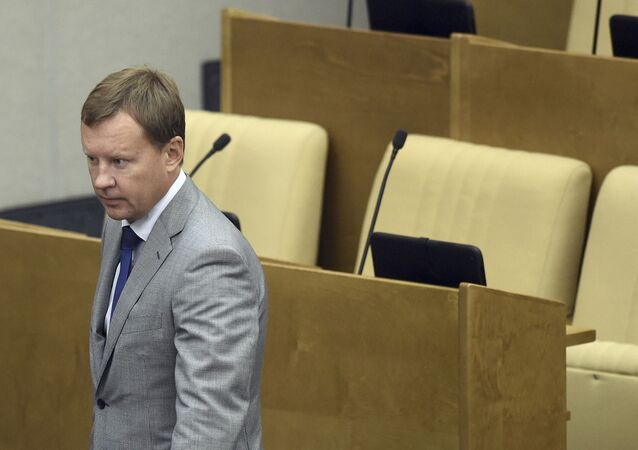 Russian lawmaker Denis Voronenkov attends a session at the State Duma, the lower house of parliament, in Moscow, Russia. (File)