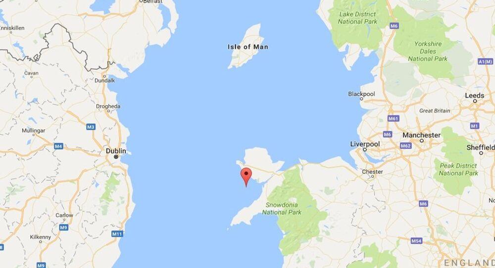 The Google Maps image of the Irish Sea