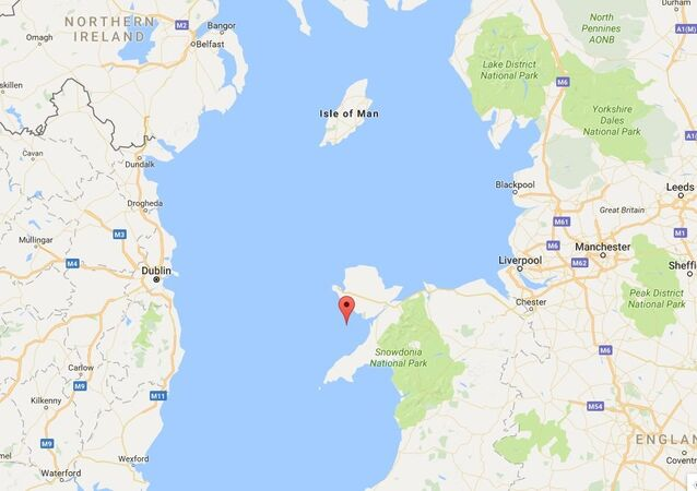 The Google Maps image of the Irish Sea