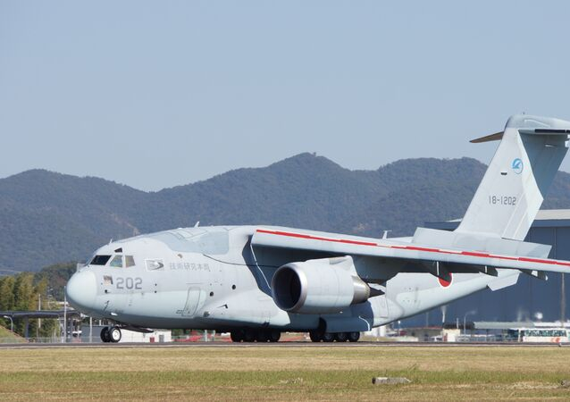 Kawasaki C-2 military transport aircraft (file)