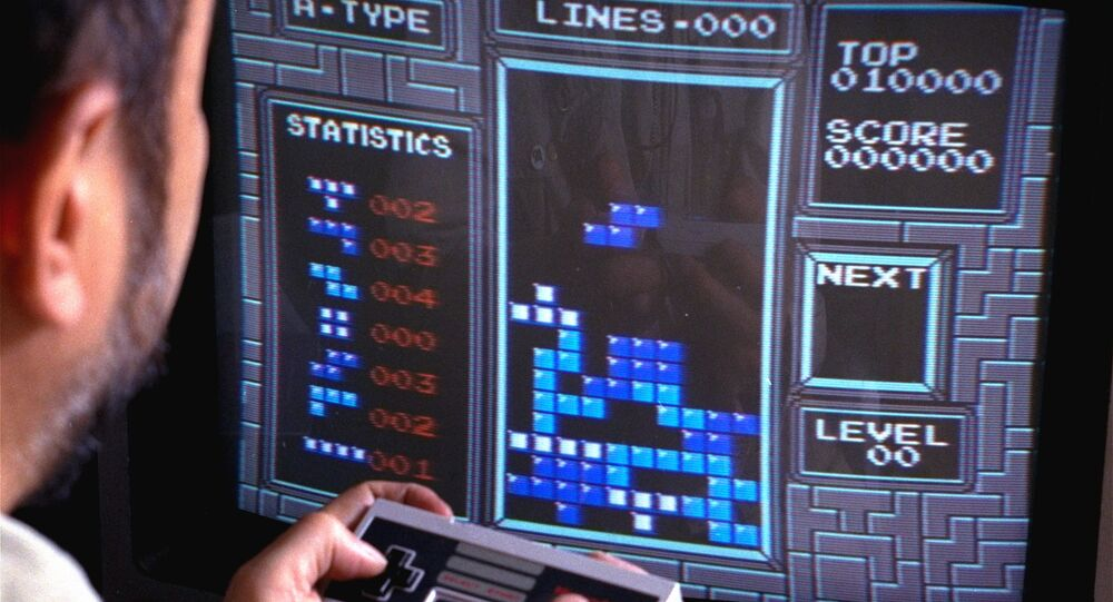 Tetris, an addictive brain-teasing video game, is shown as played on the Nintendo Entertainment System in New York, June 1990. Created by a Soviet scientist, Tetris is the first Communist bloc video game to hit it big in the free market.