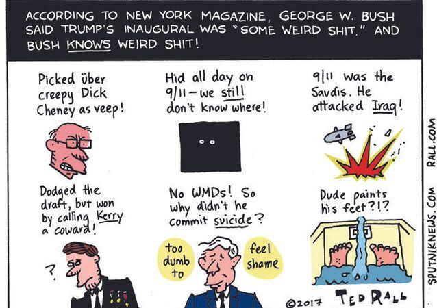 George Bush Weird Shit Cartoon