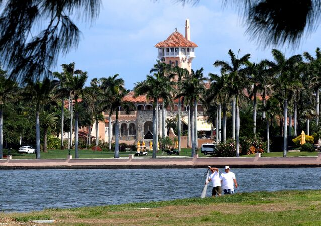 FILE PHOTO: U.S. President Donald Trump's Mar-a-Lago estate in Palm Beach is seen from West Palm Beach, Florida, U.S.