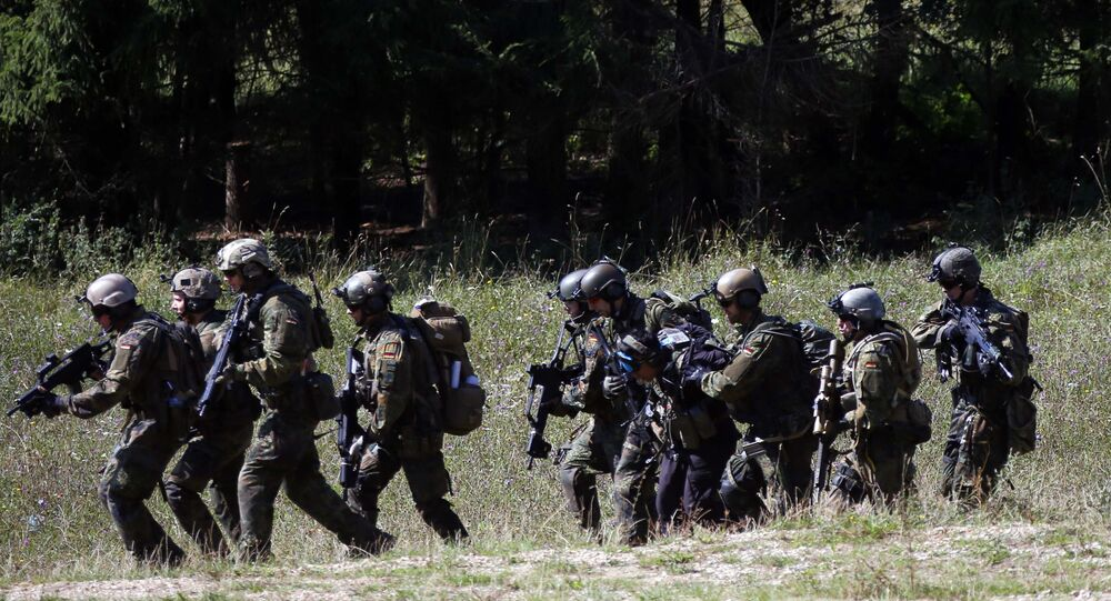 Soldiers take part in an exercise in Hohenfels, Germany. (File)