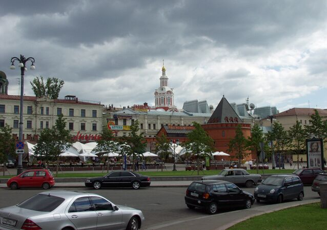 View of Kitaigorod wall from Teatralnaya Square. (File)