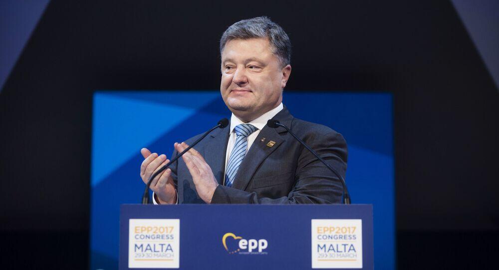 President of Ukraine Petro Poroshenko speaks at the congress of European People's Party in Malta