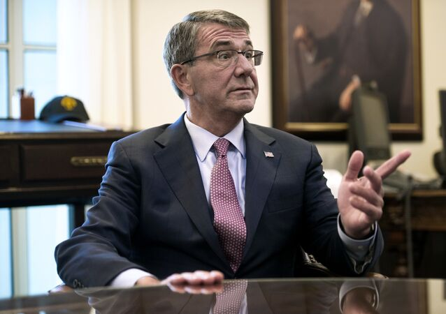 (File) Secretary of Defense Ash Carter is interviewed in his Pentagon office, Wednesday, Jan. 18, 2017, in Washington