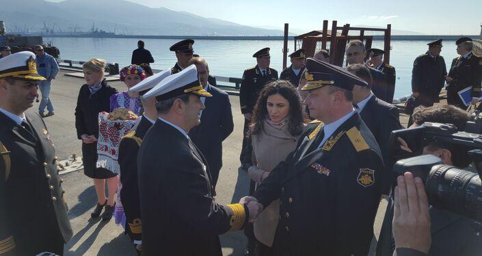 Turkish warships arrive st Russia's southern port of Novorossiysk