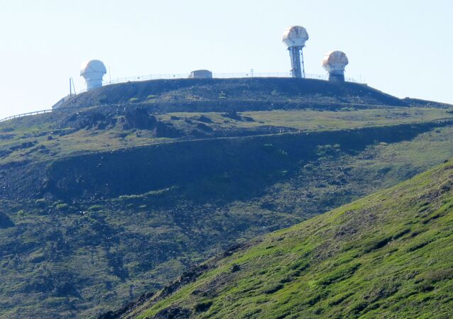 Partially refurbished clamshell radar towers that were once part of the national Nike Hercules missile site system established in the U.S. during the Cold War at Arctic Valley, nestled in the Chugach State Park in the greater municipality of Anchorage, Alaska (File)