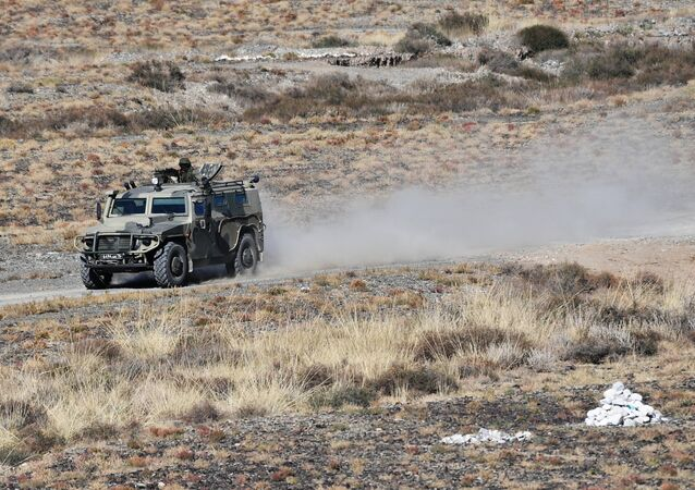 A Tigr armored SUV takes part in the Rubezh/Frontier-2016 tactical exercise involving military units of Collective Rapid-Deployment Forces from countries, members of the Collective Security Treaty Organization (CSTO). (File)