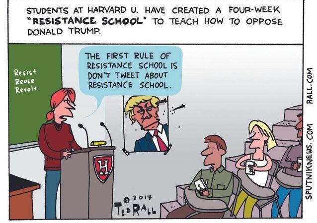 Resistance School Cartoon