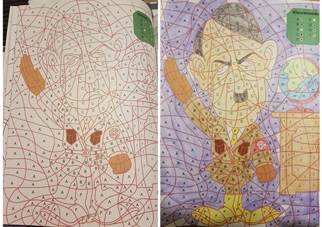 Dutch Retailer Apologizes for Hitler Appearance in Kids' Coloring Book