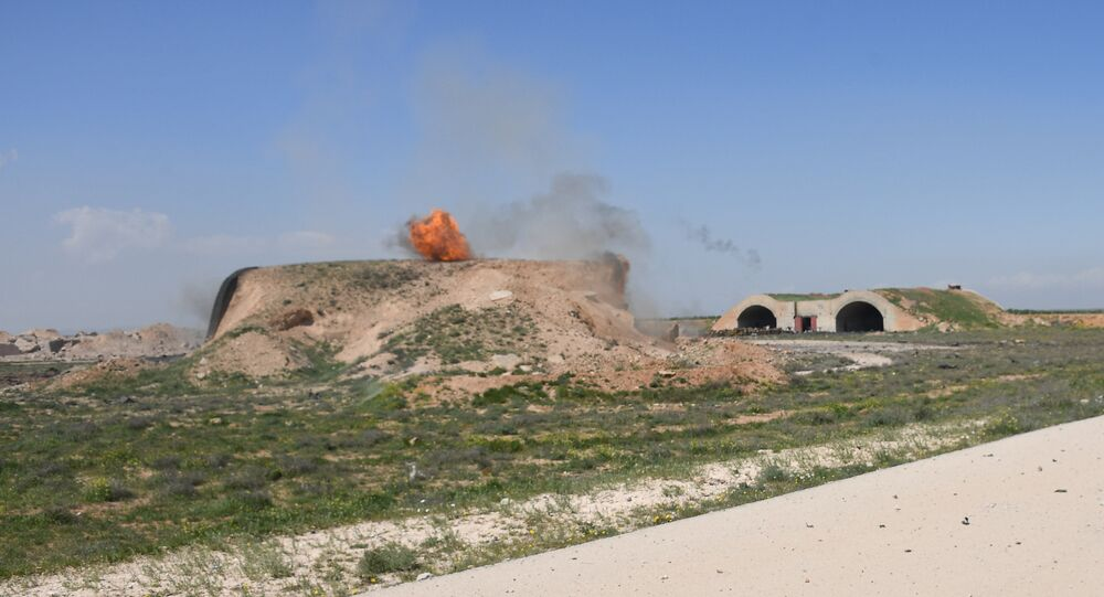 US missile attack on the Syrian airfield