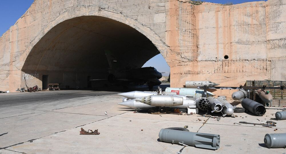 Aftermath of the US missile attack on a Syrian military airbase