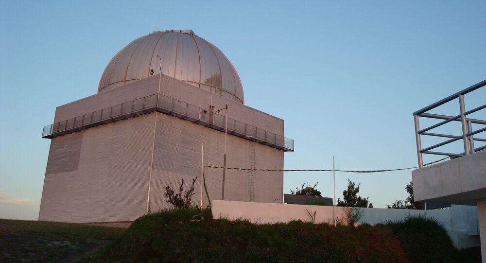 Dome of the 1.6m telescope at the Pico dos Dias Observatory, National Laboratory of Astrophysics (LNA), Itajubá, Brazil.