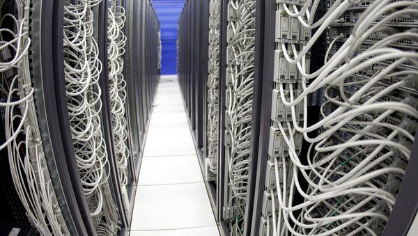 Cables connect server racks - Sputnik International