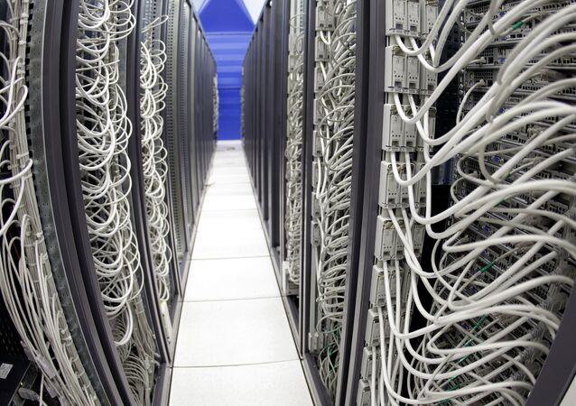 Cables connect server racks