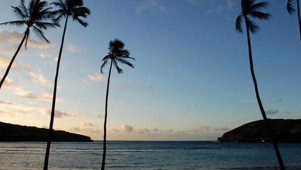 the sun rises over Oahu's Hanauma Bay near Honolulu - Sputnik International