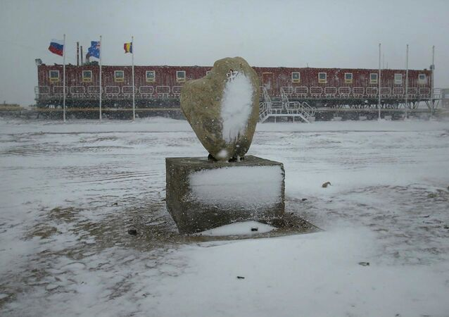 China's Xinhua News Agency released this photo, the first snowfall in 2006 hits China's Zhongshan Station in Antarctica on Tuesday, Jan. 24, 2006