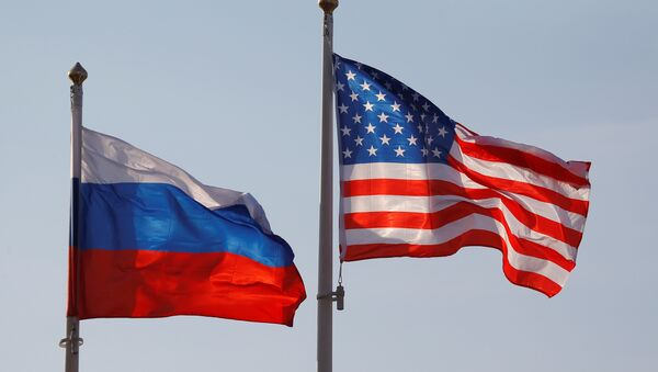 National flags of Russia and the US - Sputnik International