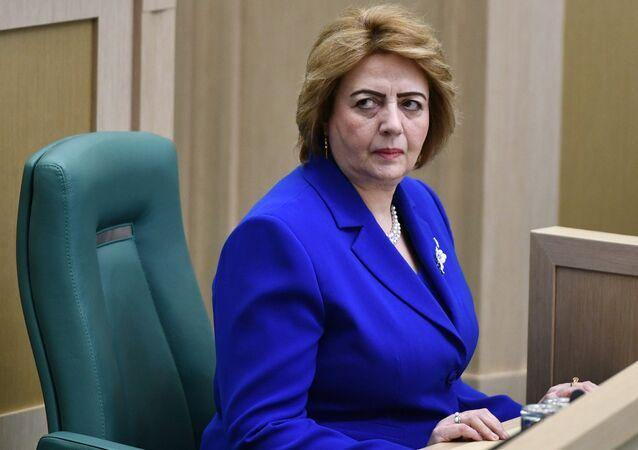 Speaker of the People's Council of Syria Hadiya Khalaf Abbas