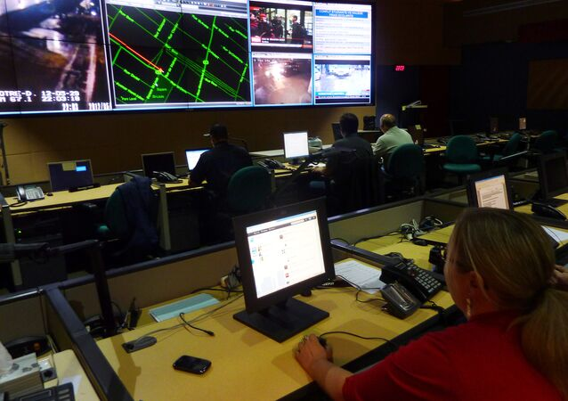 Montreal's police command center is seen on May 29, 2012