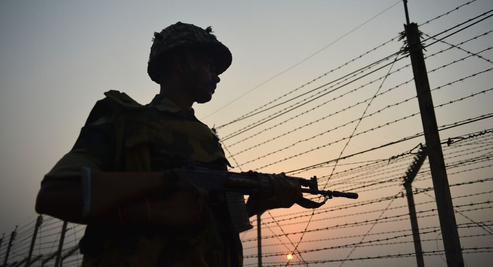 An Indian Border Security Force (BSF) soldier.