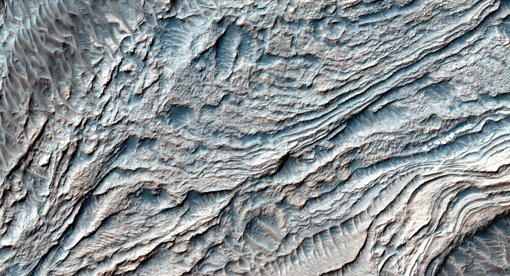 A photo of the Melas Basin, once site of an ancient lake on a young Mars.