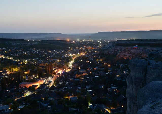 A panoramic sight of Bakhchisarai in south Crimea.