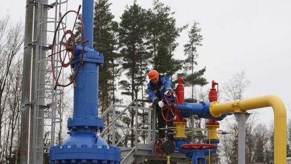 The ceremony of launching the JSC Gazprom's gas distribution station Zapadnaya opened after reconstruction near the village of Atolino (Minsk District). (File) - Sputnik International