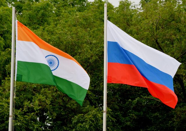 Russian and Indian flags. (File)