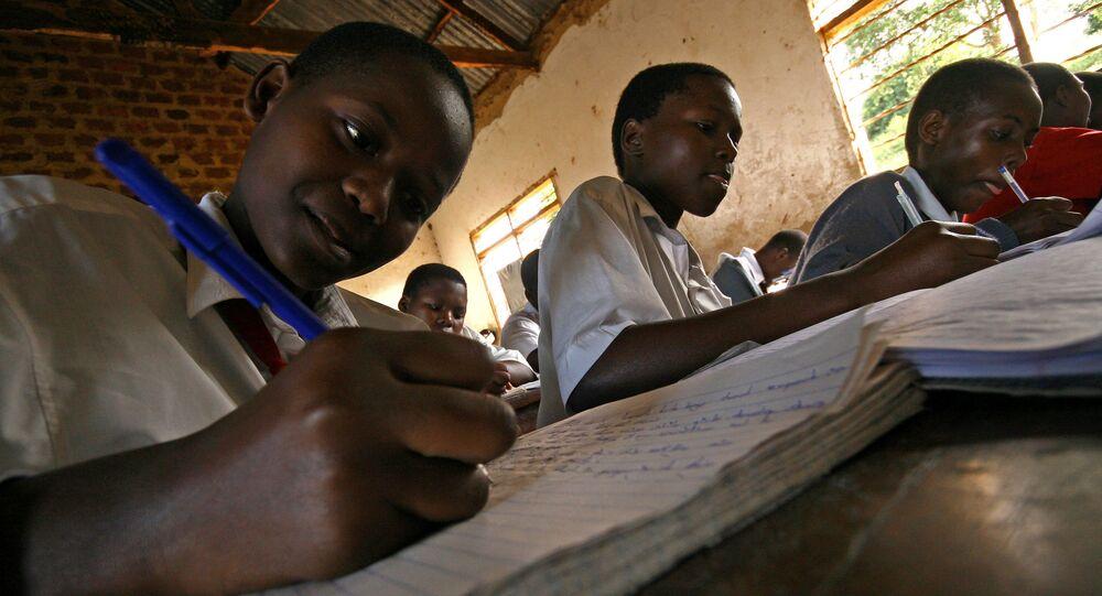 Pupils in Kampala, Uganda