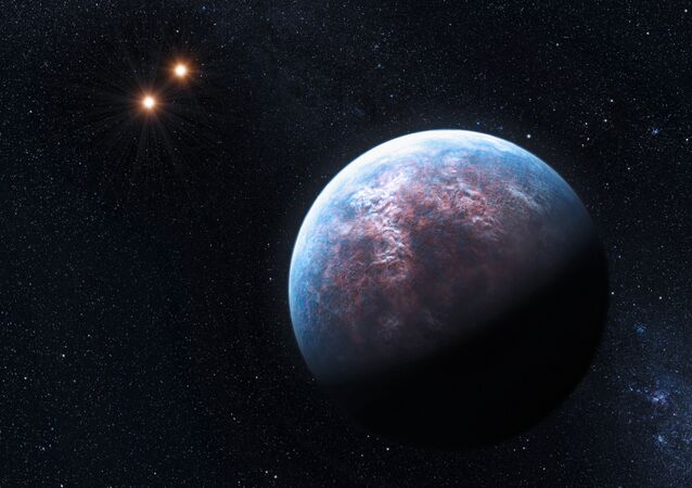 An artist's illustration of the Gliese 667Сс exoplanet