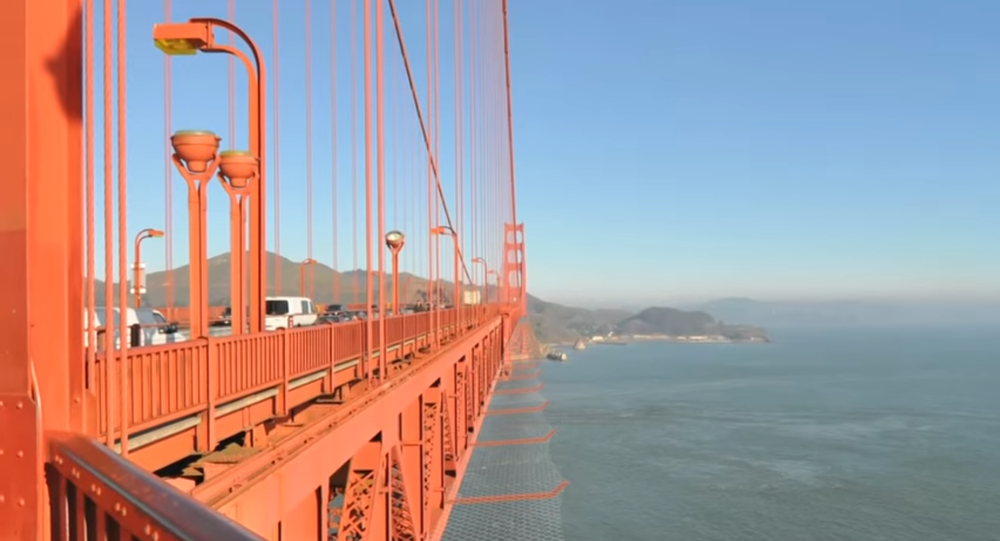 The $200 million suicide net on the edges of the Golden Gate Bridge, which began construction in 2017.