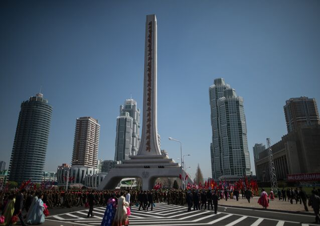 Opening of new residential area on Ryomyong Street in Pyongyang