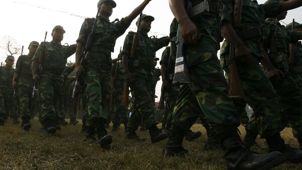 Nepalese former Maoist combatant parade. (File) - Sputnik International