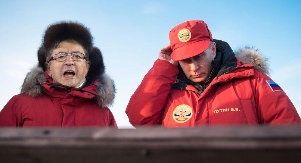 Jean-Luc Mélenchon and Vladimir Putin (collage)