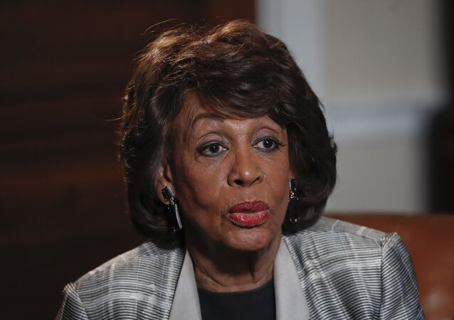 Rep. Maxine Waters, D-Calif., speaks during her interview with the Associated Press at her congressional office on Capitol Hill in Washington