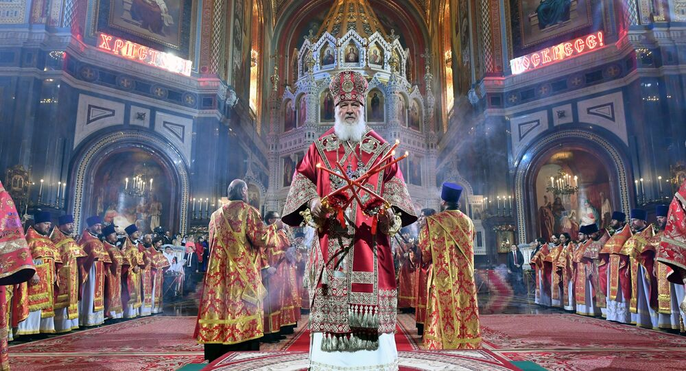 Moscow's Christ the Saviour Cathedral Holds Orthodox Easter ...