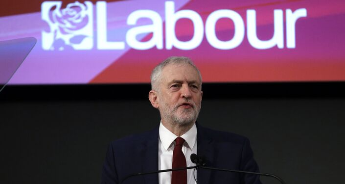 Leader of the opposition Labour Party Jeremy Corbyn delivers a speech laying out the plan for the party following the Brexit vote in June 2016, in London, February 24, 2017.